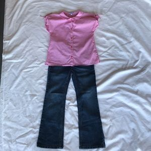 Jacadi top/ jordache jeans outfit Sz girls 6 yrs